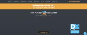 plumber webmaster website screen shot